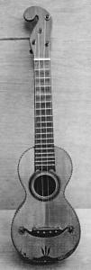 Guarda-se na coleção de instrumentos musicais do Kunitachi College of Music no Japão, um machete de construção semelhante, também de construtor não identificado.